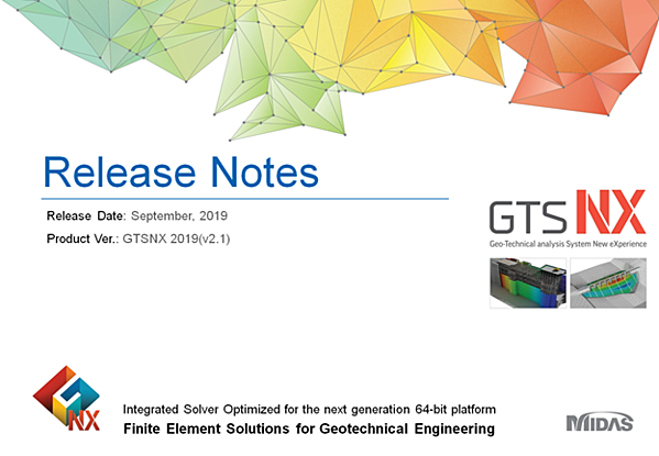 New release of midas GTS NX 2019(v2.1)